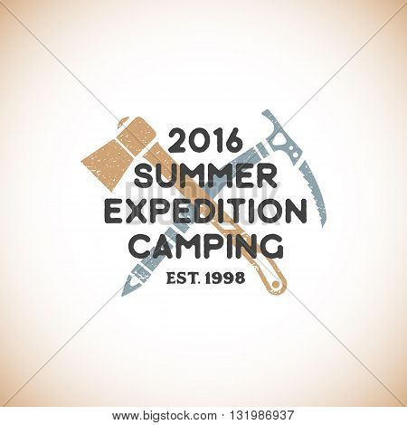 Color Expedition Camping Sign Template.