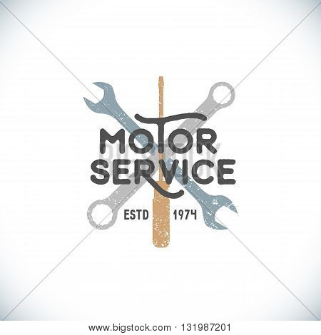 Color Motor Service Sign Template.