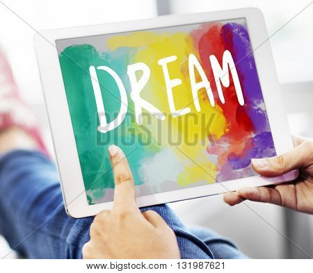 Dream Hopeful Inspiration Imagination Goal Vision Concept