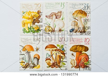 Uzhgorod, Ukraine - Circa May, 2016: Collection Of Postage Stamps Printed In Deutsche Demokratische