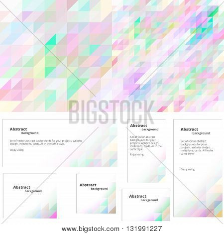 Colorful background for design in pastel colors. To obtain an invitation greeting card website. Abstract colorful wallpaper. Set of banners