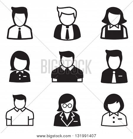 useraccount staff employee maid icons vector illustration Symbol