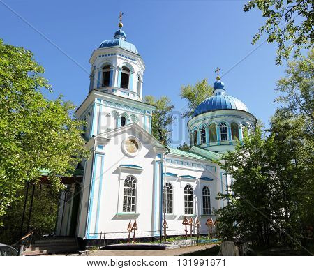 The little Church in the forest in the Urals