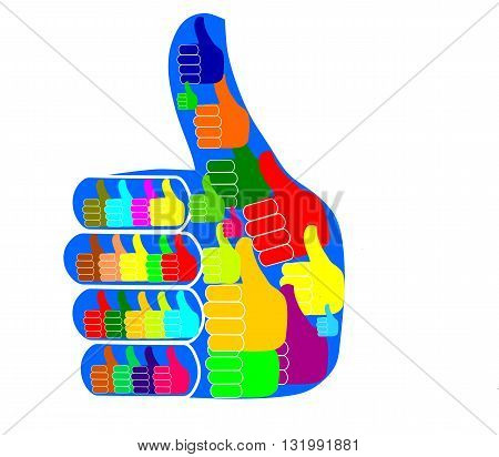 Colourful like icon - modern vector image.