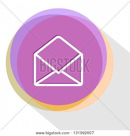 open mail. Internet template. Vector icon.