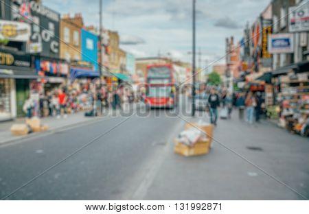 Abstract blurry background : Camdem Lock Market