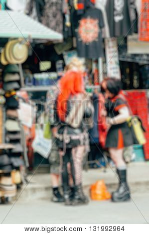 Abstract blurry background : Punks London Uk