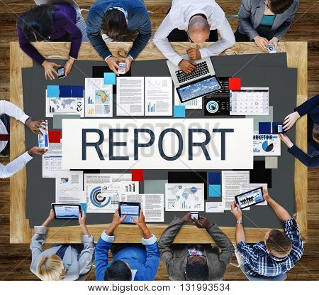 Report Information Minutes Organization Concept