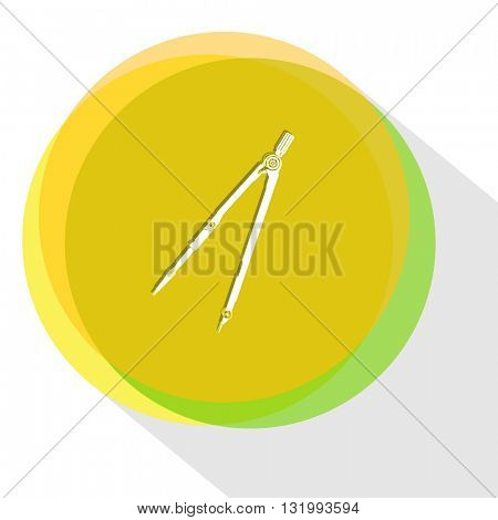 caliper. Internet template. Vector icon.
