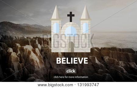 Believe Faith Hope Ideas Imagine Inspiration Concept