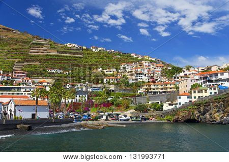 View of Camara de Lobos Resort, Madeira island, Portugal