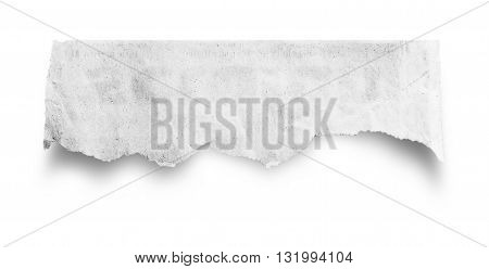 Hole ripped in paper. Advertising space for copy