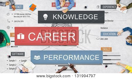 Career Performance Knowledge Word Concept