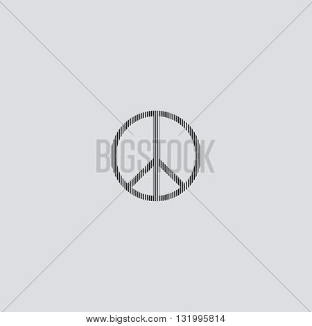 Hippie icon vector. Hippie logo. Hippie sign.  Hippie icon web - stock vector.