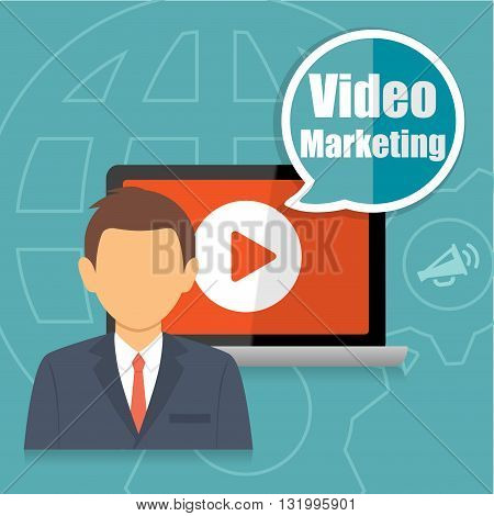 Video Marketing Business Promotion Advertising Concept Infographic