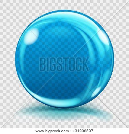 Big Blue Glass Sphere