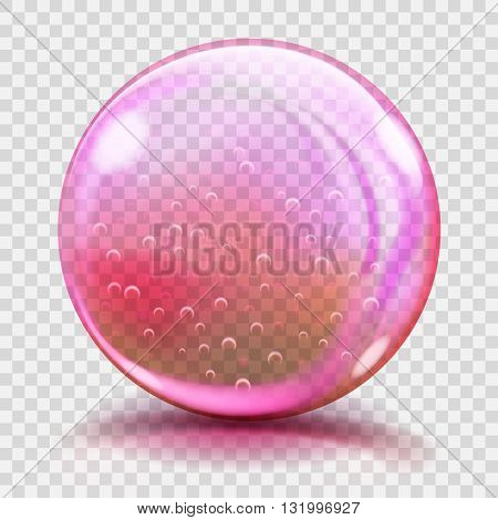 Big Pink Glass Sphere