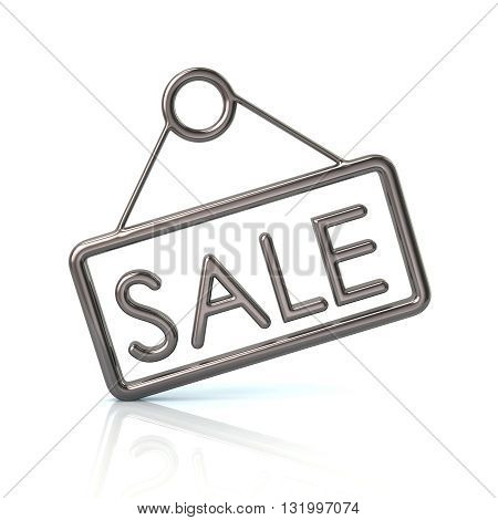 3D Illustration Of Silver Sale Icon