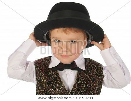 Cute little boy in hat