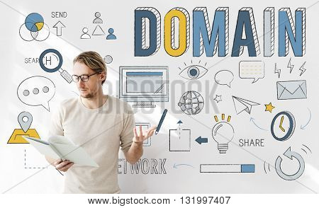 Domain Address Homepage Internet Website Concept