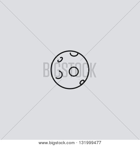 Moon icon vector. Moon logo. Moon sign.  Moon icon web - stock vector.
