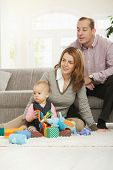 stock photo of nuclear family  - Family fun  - JPG