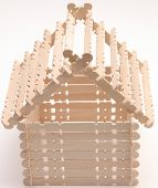 Popsicle Stick House poster