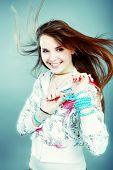 Постер, плакат: Портрет стиле профессиональной модели Тема: подростки Салон красоты