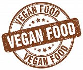 Vegan Food Brown Grunge Round Vintage Rubber Stamp.vegan Food Stamp.vegan Food Round Stamp.vegan Foo poster