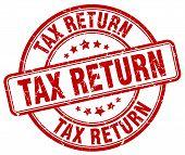 Постер, плакат: Tax Return Red Grunge Round Vintage Rubber Stamp tax Return Stamp tax Return Round Stamp tax Return