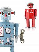 Retro Tin Toy Robots poster