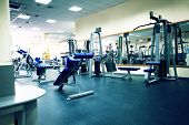 stock photo of gym workout  - Fitness club - JPG