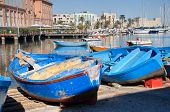Boats moored at tourist port of Bari. Apulia.