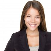 image of asian woman  - Young asian businesswoman portrait over white - JPG