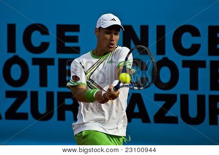Nice, France - May 17: Fabio Fognini (ita) At The Nice Cote D'azur Open On May 17, 2011