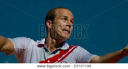 Nice, France - Aug 16: Oliver Rochus (bel) At The Nice Cote D'azur Open On May 16, 2011