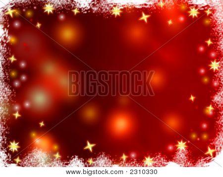 Christmas 3D Golden Stars