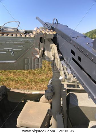 Military Jeep Machine Gun