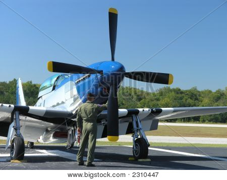 P-57 Mustang & Pilot