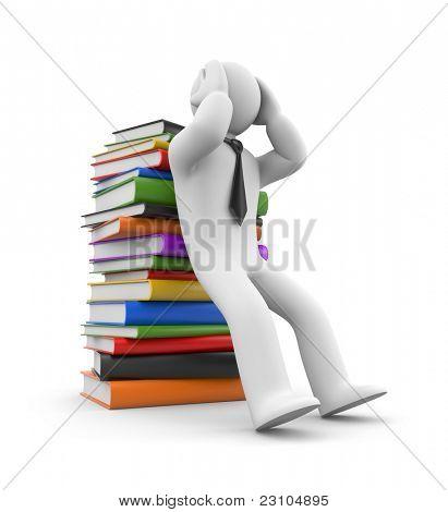 Headache from books