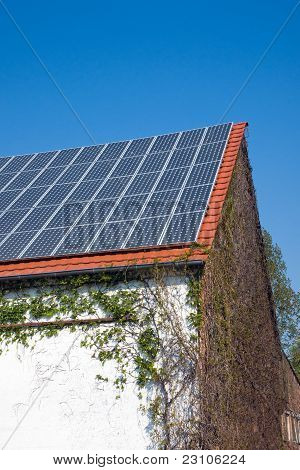 Solar cells on an old house