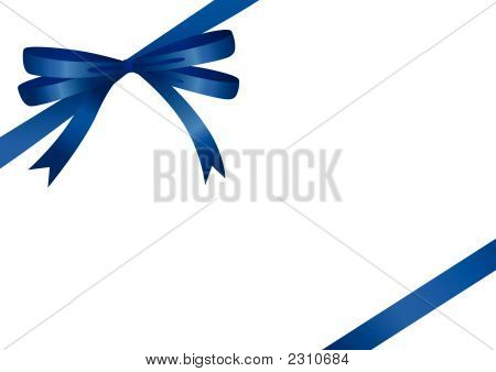Blue Ribbon (Vector Or Xxl Jpeg Image)