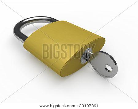3D Padlock Key