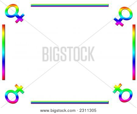 Female Rainbow Background