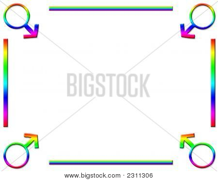 Male Rainbow Background