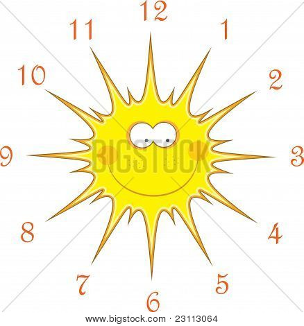 Sun watches, vector illustration