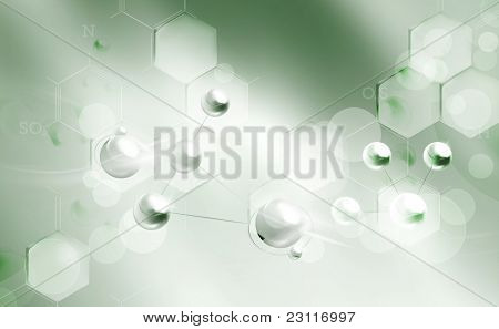Molecules background, bitmap copy