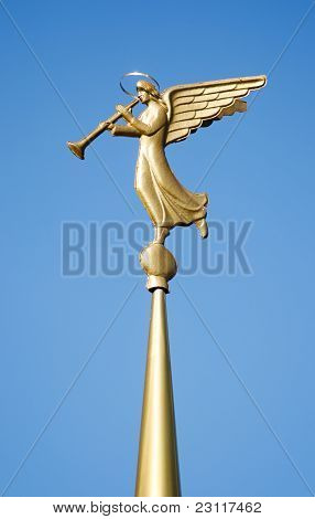 Weathervane. Blowing Angel.