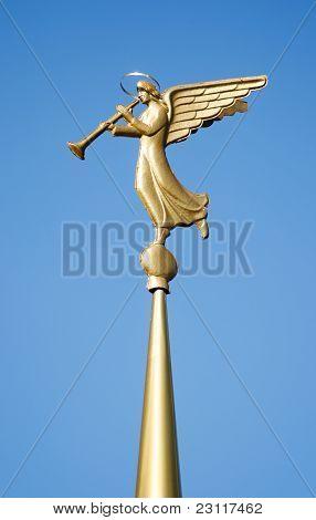 Weathervane. Blowing Angel.
