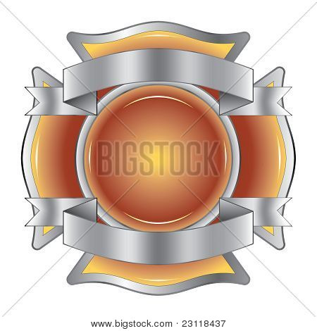 Firefighter Cross with Ribbons